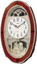 CITIZEN シチズン リズム時計 スモールワールドM483 アナログ 電波時計 掛け時計 18曲メロディ 4MN483RH23