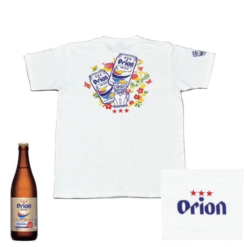 オリオンビール シーサー 酒造メーカーコラボシャツ Tシャツ 白 和柄 orion 半袖 綿100% 半そで ティーシャツ