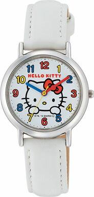 ハローキティ Hello Kitty 腕時計 ガールズ レディース ウォッチ シチズン Q&Q アナログ表示 ホワイト CITIZEN HK15-001