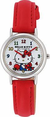 ハローキティ Hello Kitty 腕時計 ガールズ レディース ウォッチ シチズン Q&Q アナログ表示 ホワイト×レッド CITIZEN HK25-001