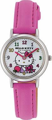 ハローキティ Hello Kitty 腕時計 ガールズ レディース ウォッチ シチズン Q&Q アナログ表示 ホワイト×ピンク CITIZEN HK25-003