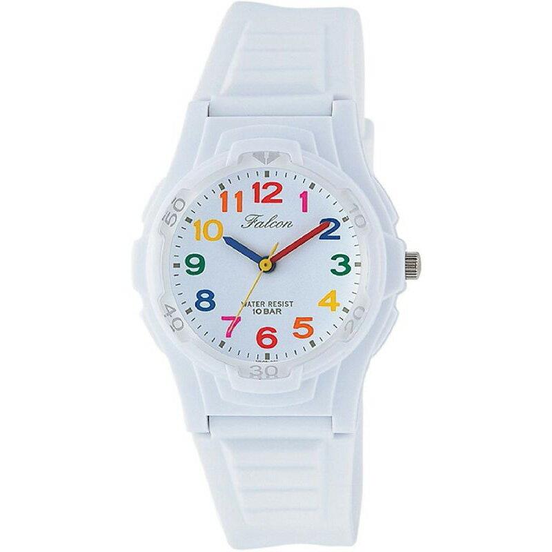腕時計 レディース シチズン Q&Q ファルコン 10気圧防水 防水時計 ウレタンベルト スポーツウォッチ ホワイト CITIZEN VS06-001