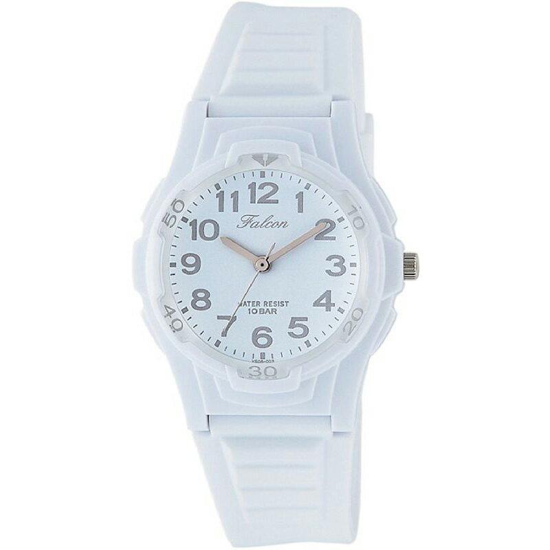 腕時計 レディース シチズン Q&Q ファルコン 10気圧防水 防水時計 ウレタンベルト スポーツウォッチ ホワイト CITIZEN VS06-003