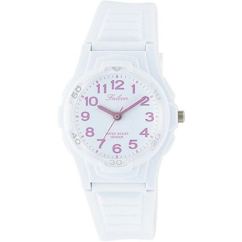 腕時計 レディース シチズン Q&Q ファルコン 10気圧防水 防水時計 ウレタンベルト スポーツウォッチ ホワイト CITIZEN VS06-007