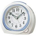 セイコークロック 目覚まし時計 置き時計 アナログ 安心感のあるスタンダードタイプ ブルー KR890L