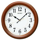 掛け時計 壁掛け時計 電波時計 セイコー クロック SEIKO 夜間自動点灯 木枠 MDF 茶木地 KX204B
