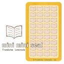 [40206]ノート【ミニミニセレクト ビジネス】 こちらはノートの単品シールです。 紙モノ かわいい紙もの 可愛い紙雑貨 おしゃれ大人文具