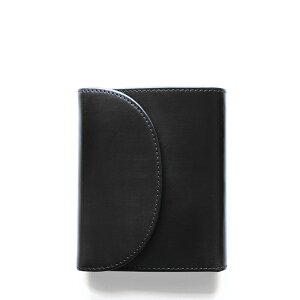 ホワイトハウスコックス【Whitehouse Cox】型番:S1058(ブラック) 財布 三つ折り財布 ブライドルレザー 牛革 男女兼用