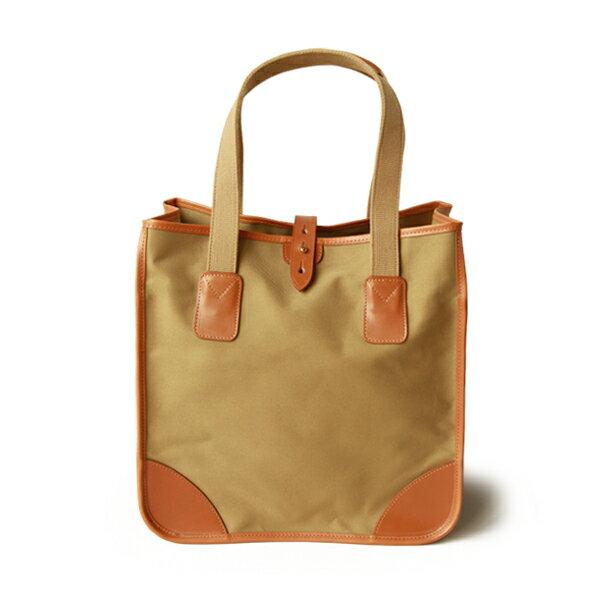 ホワイトハウスコックス【Whitehouse Cox】型番:L9070(タン×ニュートン) トートバッグ 鞄 コットンツイルキャンバス ブライドルレザー ツートーン 牛革 男女兼用(タン)(ベージュ)