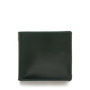 ホワイトハウスコックス【Whitehouse Cox】型番:S7532(グリーン×ニュートン) 財布 二つ折り財布 ブライドルレザー ツートン 牛革 男女兼用 (グリーン)(ニュートン)