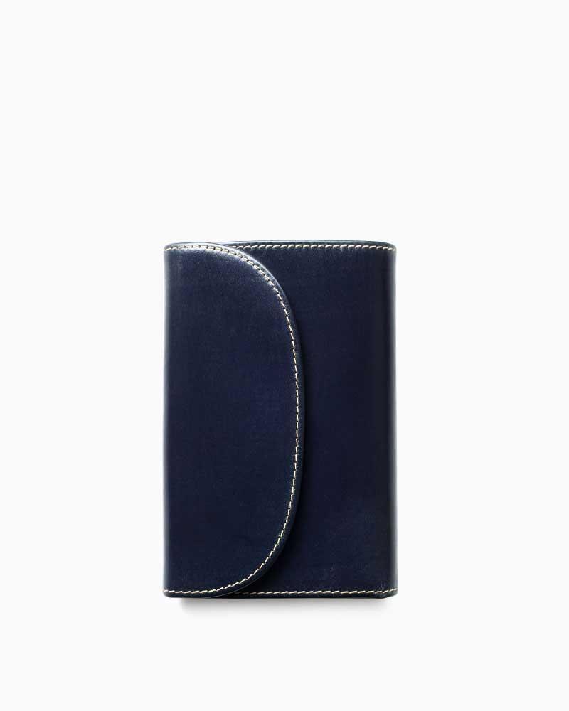ホワイトハウスコックス【Whitehouse Cox】型番:S7660(ネイビー) 財布 三つ折り財布 ブライドルレザー 牛革 男女兼用