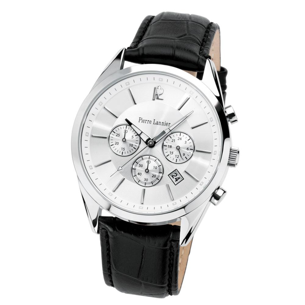 【ピエールラニエ公式】メンズ腕時計 フランス製 ギフト ラッピング プレゼント クロノグラフ【P278B】Pierre Lannier ピエールラニエ ラウンドクロノグラフレザーウォッチP278Bモデル 誕生日プレゼント 記念日