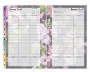コンパクトサイズ(バイブルサイズ幅広) フランクリンプランナー リフィル 6穴  ブルーム・ウイークリー・リフィル (英語版) 1週間2ページ  バイブルサイズ   手帳 システム手帳 フランクリン2018年1月