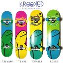 スケートボード KROOKED クルキッド TEAM SHMOO コンプリートセット skateboard complete スケボー 完成品 初心者あす楽 送料無料