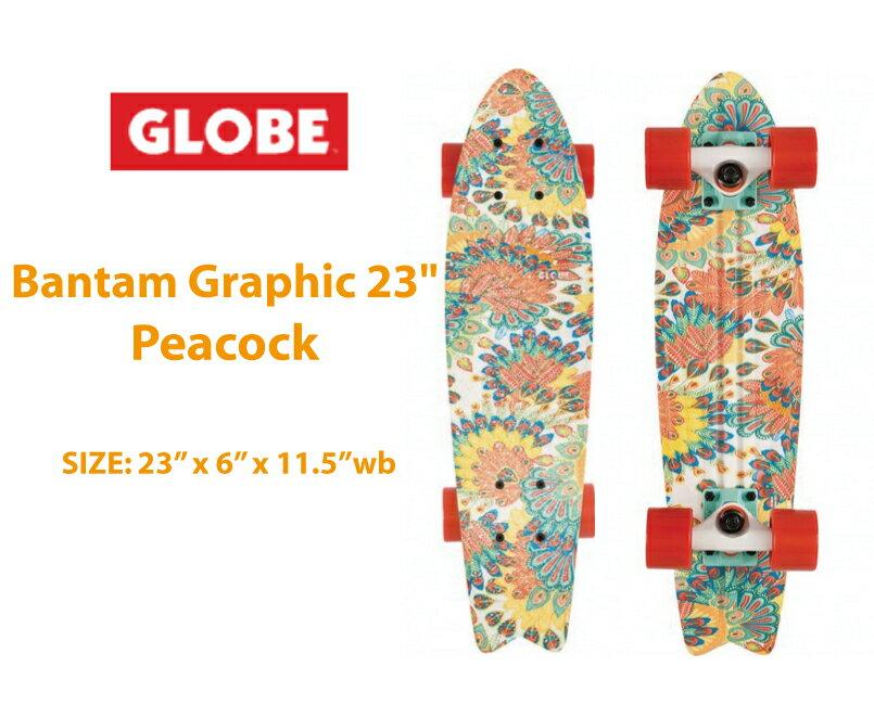 【GLOBE グローブ】skateboard スケートボード送料無料<バンタムクルーザー サイズ:6x23インチ>peacock完成品持ち運びが便利なクルーザーコンプリートセット
