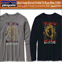あす楽!セール60%OFF 【PATAGONIA パタゴニア】51507 シェパード・フェアリーのスタジオ・ナンバー・ワンがデザインした、自由に駆け回るバイソンのオリジナルアートTシャツ<Long-Sleeved Freedom To Roam Bison>