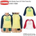 樂天商城 - 【超ポイントバック祭】CHUMS チャムス CH21-1028<Kid's Booby Face L/S T-Shirt Trans Dry キッズブービーフェイスTシャツトランスドライ >※取り寄せ品