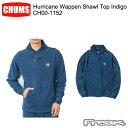 CHUMS チャムス CH00-1152<Hurricane Wappen Shawl Top Indigo ハリケーンワッペンショールトップインディゴ(トップス/スウェット)>※..