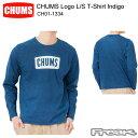 CHUMS チャムス CH01-1334<CHUMS Logo L/S T-Shirt Indigo チャムスロゴ長袖Tシャツインディゴ>※取り寄せ品