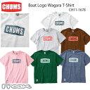 CHUMS チャムス レディース トップス Tシャツ CH11-1678< Boat Logo Wagara T-Shirt ボートロゴ和柄Tシャツ >※取り寄せ品