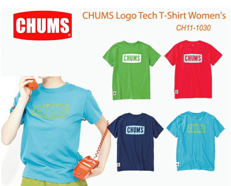 チャムス Logo Tech T-Shirt Women