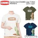 樂天商城 - 【超ポイントバック祭】CHUMS チャムス CH11-1237<Cactus And CHUMS Logo T-Shirt Women's カクタスアンドチャムスロゴTシャツ >※取り寄せ品
