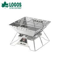 LOGOS ロゴス<LOGOS the ピラミッドTAKIBI L>焚き火台 アウトドア キャンプ バーベキュー レジャー 収納バッグ付きの画像