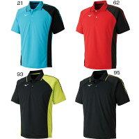 ミズノ Mizuno メンズ レディース ジュニア ゲームシャツ テニス バドミントンウェア ポロシャツ 半袖 62JA8015の画像