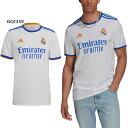 メンズ レアル マドリード ホーム ユニフォーム Real Madrid 21/22 Home Jersey サッカー フットサル トップス 半袖 レプリカユニフォーム アディダス adidas AV067