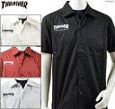 スラッシャー シャツ 半袖/THRASHER ワークシャツ MAG LOGO S/S SHIRT/メンズ ストリート/送料無料/
