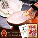景品 目録 肉 【群馬県産豚肉使用骨付きハム2.5kg】 A3パネル付き 目録 景品 二次会