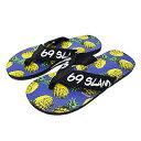69SLAM ロックスラム メンズ ビーチサンダル PINAPPLES NAVY 今ならオリジナルステッカープレゼント! [世界中で流行の新ブランド デザインも...