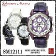 【レビューを書いて送料無料】サルバトーレマーラ メンズ腕時計 SM12111 SSBK/SSWHBK/IPPL/SSWHWH 全4色 クロノグラフ【Salvatore Marra】
