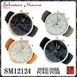 【レビューを書いて送料無料】サルバトーレマーラ メンズ腕時計 SM12124 SSWH/SSBK/PGWH/PGBK 全4色 クロノグラフ【Salvatore Marra】