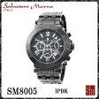 【レビューを書いて送料無料】サルバトーレマーラ メンズ腕時計 SM8005 IPBK クロノグラフ【Salvatore Marra】