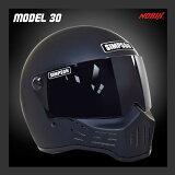 【】【SIMPSON】シンプソンヘルメット M30 マットブラック モデル30 Model30 復刻版 国内仕様 SG規格 フルフェイス オートバイ用【あす楽対応】10P01Mar15