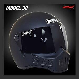 シンプソン ヘルメット ブラック フェイス オートバイ