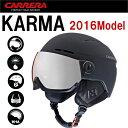 【送料無料】【CARRERA】カレラ KARMA カルマ MAT BLACK 2016モデル スキー・スノーボード用バイザー付きヘルメット ウインタースポーツ【...