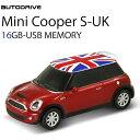 AUTODRIVE オートドライブ16GB MINI COOPER-S RED/UK USBメモリー 外付けストレージ ミニクーパー あす楽対応