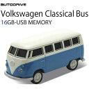 AUTODRIVE オートドライブ16GB VOLKSWAGEN クラシカルバス BLUE USBメモリー 外付けストレージ ワーゲンバス あす楽対応