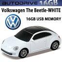 AUTODRIVE オートドライブ16GB VOLKSWAGEN THE BEETLE WHITE USBメモリー 外付けストレージ ザ・ビートル【あす楽対応】