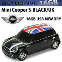 AUTODRIVE オートドライブ16GB MINI COOPER-S BLACK/UK USBメモリー 外付けストレージ ミニクーパー【あす楽対応】