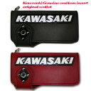 【即納】【Kemeko Moto Locomotion】KAWASAKI純正タンクエンブレムインサートライダースウォレットカワサキ【あす楽対応】