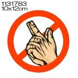 即納!【メール便OK】インポートステッカー 指浣腸禁止ステッカー!名前がキラーって??テー...