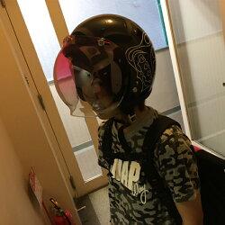 ブンブン4649オリジナルデザインジェットヘルメットラメ入りデザインSG規格全排気量対応