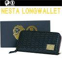 【送料無料】NESTA BRAND ネスタブランド WALLET ロングウォレット BLACK 小銭入れ カードポケット 長財布【あす楽対応】