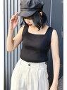[Rakuten Fashion]◆スクエアネックリブタンクトップ FREE'S MART フリーズ マート カットソー カットソーその他 ベージュ ブラック ホワイト グリーン カーキ