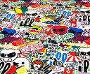 ステッカーボム 欧米 ヘラフラ スタンス JDM USDM ロゴ キャラクター カーラッピングフィルム ステッカー 重ね張り Aタイプ152x50cm