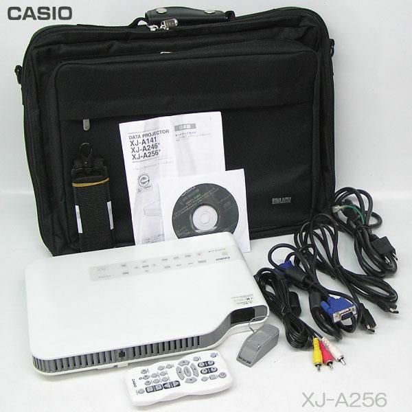 □■□特価//CASIO 3000lm HDMI LEDプロジェクター XJ-A256 ライト使用時間 41h 推奨品【中古】リモコン付き/即使用可!