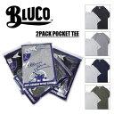 BLUCO WORK GARMENT/ブルコ 2PACK POCKET TEE/2パックポケットTシャツ・4color